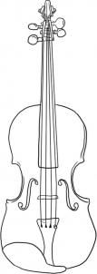 how to draw a violin step 5