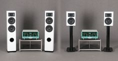 Egg-Shell valve amplifier with Davis Acoustics speakers in white