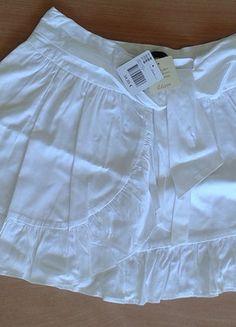 Jupe blanche Etam façon porte-feuille T.40 04cf467c38d0