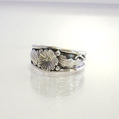 Vintage Navajo sterling silver ring siged by GregDeMarkJewelry