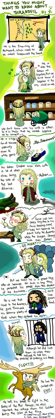 For those who don't know who #Thranduil is by MINASANNOINU