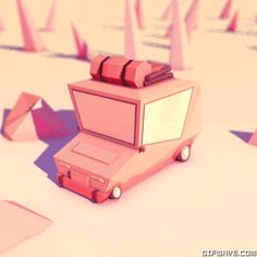 art animation artists on tumblr 3d illustration design car photoshop motion c4d geometry geometric after effects trees eightninea autumn low poly mograph outdoors lowpoly camping gif