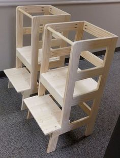 Made A Pair Of Learning Towers For Co Workeru0027s Toddler Twins To Practice  Pocket Holes