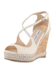 7ffce388cc56 Get free shipping on Jimmy Choo Dakota Wedge Espadrille Sandal