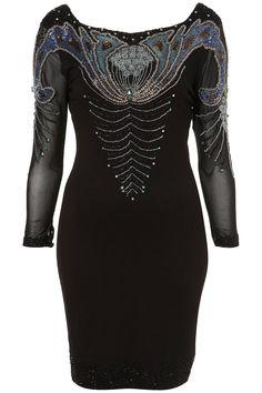 Topshop embellished bodycon dress