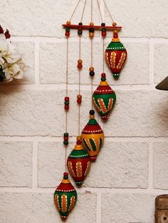 Terracotta Shankh Wind Chime – how to recycle plastic bottles at home diy wind…wind chimes Diy Home Crafts, Diy Arts And Crafts, Clay Crafts, Handmade Crafts, Ramadan Crafts, Diwali Craft, Art N Craft, Craft Work, Clay Wall Art