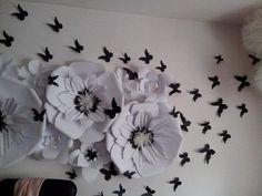 Большие бумажные цветы были очень популярны в сезоне свадеб 2012-2013 — Казахстанский семейный сайт для мам и пап