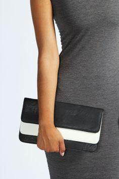 Jayne Colour Block Clutch Bag   #monochrome #clutch #bag #handbag