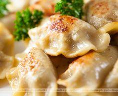 Homemade Polish Pierogi With Potatoes & Cheese, It's Supremely Satisfying! Pork Recipes, Gourmet Recipes, Appetizer Recipes, Cooking Recipes, Gourmet Foods, Appetizers, Loaded Potato, Loaded Baked Potatoes, Polish Pierogi