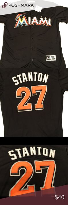 Giancarlo Scranton Miami Marlins Jersey If you're a Marlins baseball fan, here's a hot player whose jersey you wouldn't want to pass up. Brand new never worn. Shirts