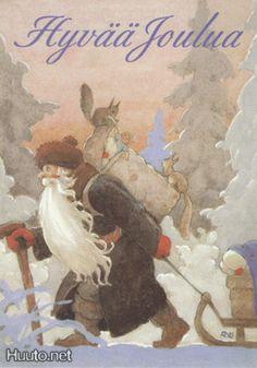 Illustration by Rudolf Koivu (Finnish, 1890 – Swedish Christmas, Scandinavian Christmas, Christmas Art, Xmas, Art And Illustration, Baumgarten, Saint Nicolas, All Nature, Papa Francisco