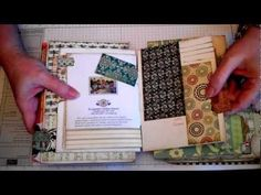 ▶ Mini Album Journal From My Christmas Cards Part 1 - YouTube