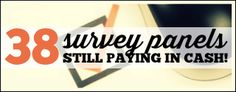 38 Survey Panels That Still Pay in Cash Selling Crafts Online, Craft Online, How To Start A Blog, How To Make Money, Get Cash Now, Legit Online Jobs, Online Surveys For Money, Work From Home Jobs, Money Matters