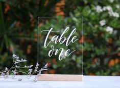 Acrylic Wedding Signs. Wedding Table Numbers. Unique Weddings. Table Decoration. Event Decor. Table Decoration. Perspex Wedding Signage. Hand-Lettered Numbers. by FoxAndHart on Etsy