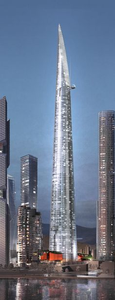 Triple One Landmark Tower, Seoul, South Korea by Renzo Piano Architect :: height 620m, new Yongsan International Business District development
