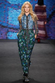 Anna Sui - 70's folklore and large scale groovy florals/wallpaper prints