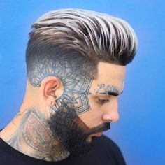 Cool Haircuts, Haircuts For Men, Stubble Beard, Medium Length Cuts, Quiff Hairstyles, Crop Photo, Sideburns, Awesome Beards, Gorgeous Blonde