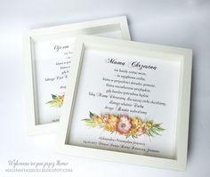 Blog Craft Passion: Podziękowania dla rodziców chrzestnych / Thank you frame for Godparents