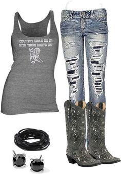 Love love love these jeans cute country outfits, country wear, western outfits, cowgirl Country Look, Country Wear, Country Girl Style, Country Fashion, Country Girls, My Style, Southern Girl Style, Southern Baby, Country Chic