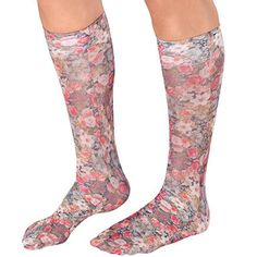 Miles Kimball Celeste Stein Compression Socks help boost circulation and reduce fatigue, swelling, edema and discomfort around the legs. Compression Socks For Travel, Compression Hose, Compression Stockings, Circulation Socks, Beige Socks, Walter Drake, Support Hose, Sore Feet, Most Comfortable Shoes