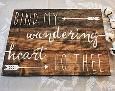 Wall Sign Decor Fair Scripture Quote Then Sings My Soul Distressed Wood Framed Signs Decorating Inspiration