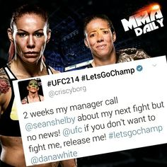 Let's get that title fight sorted!! #mma #ufc