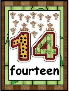 $3.00 - Jungle Safari Number Word Posters 11-20