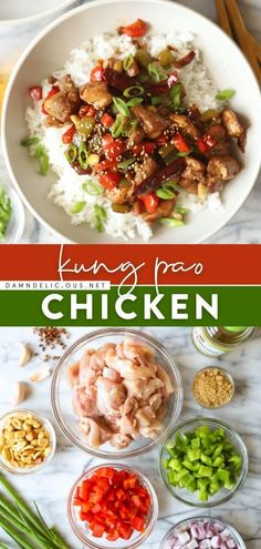 13 reviews · 60 minutes · Gluten free · Serves 4 · Craving Chinese food for dinner? Skip the takeout and learn how to make Kung Pao Chicken instead! Packed with the best flavors, this main dish is perfect with a bowl of rice. Save this easy chicken… Easy Chicken Dinner Recipes, Easy Asian Recipes, Chinese Recipes, Simple Recipes, Delicious Recipes, Tasty, Best Stir Fry Recipe, Food Dishes, Main Dishes
