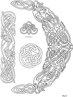 Celtic Knots ~ Choose from 24 Designs ~ Iron-on Embroidery Transfers for sewing Tatto Viking, Norse Tattoo, Celtic Tattoos, Viking Tattoos, Maori Tattoos, Tribal Tattoos, Viking Embroidery, Iron On Embroidery, Embroidery Transfers