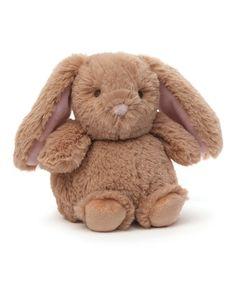 Look at this #zulilyfind! GUND Chub Bunny Rattle Plush Toy #zulilyfinds