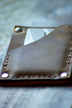 Mens Leather Wallet Leather Wallet Mens Thin by simpleflychic