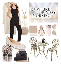 """#sundaymorning"" by brokeshopaholicsc on Polyvore featuring Thalia Sodi, Jennifer Zeuner, Kate Spade, Missoni, N°21, Bulgari, Fendi, Oribe, BCBGeneration and Versace"