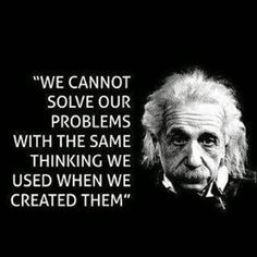 """Einstein on problem solving. Need my """"Einstein-a-day"""" =) Life Quotes Love, Wise Quotes, Quotable Quotes, Great Quotes, Quotes To Live By, Inspirational Quotes, Motivational, Famous Quotes, Wise Sayings"""