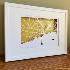 BBpapercuts make papercut maps of Cities, Towns and Villages. Ireland Map, Galway Ireland, Us Map, Me On A Map, Map Shop, First Wedding Anniversary, Irish Art, Custom Map, 60th Birthday