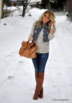 Denim Winter Vest. #lulus #holidaywear