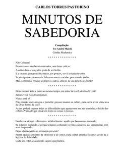 MINUTOS DE SABEDORIA CARLOS TORRES PASTORINO