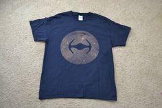 Star Wars Bleach T-Shirt Mens Large Navy by HeatherBorerDesigns