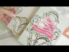 Boiserie Card Stickers How To Video - YouTube