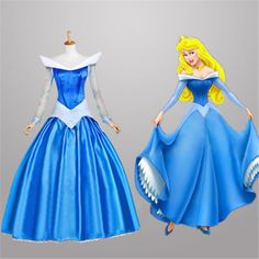 >> Click to Buy << Movie Sleeping Beauty Princess Aurora Cosplay Gorgeous Bule Fancy Dress Halloween Costumes for Women Custom Any Size/S-XL #Affiliate