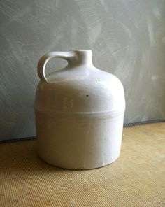 Vintage white stoneware jug.   I have one like this.