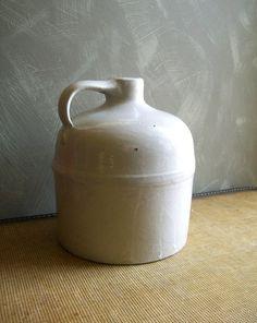 vintage white stoneware jug