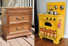 Ne jetez pas tous vos vieux meubles mais transformez-les en de magnifiques objets! Le numéro 5 est vraiment très original! - DIY Idees Creatives