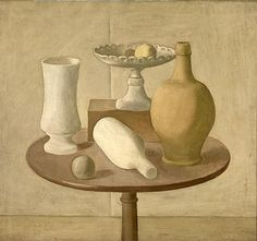 1920  Giorgio Morandi\ TITLE Still Life  AUTHOR Giorgio Morandi  DATE 1920  OBJECT TYPE AND MATERIAL Oil on canvas  TECNICA OPERA Oil on canvas  DIMENSIONS cm 60,5 × 66,5  INVENTORY 7442  ROOM XI  WORK ON DISPLAY