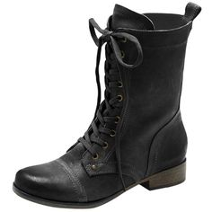 Vince Camuto Richell Boot ($50) ❤ liked on Polyvore featuring shoes, boots, ankle booties, combat boots, sapatos, black, black military boots, black leather lace up booties, black leather lace up boots and black army boots