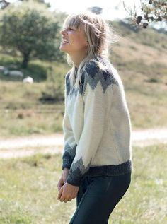 Strik selv: Sweater med megazigzag - ALT.dk Sweater Knitting Patterns, Knit Patterns, Icelandic Sweaters, Big Knits, Slow Fashion, Alter, Knitwear, My Design, Knit Crochet
