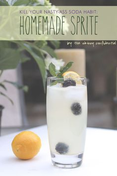 Pop open a bottle of San Pellegrino and make this SUPERLICIOUS Homemade sprite for the up and coming warmer months. YUM!