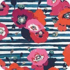 Tissu Art Gallery Paparounes crimson