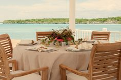 Bahamas Wedding Destination in the Exumas - Outdoor reception, Turquoise Cay Boutique Hotel ... perfect for your private luxury wedding in the Exumas Bahamas.  Photo | Turquoise Cay Boutique Hotel. Chic Bahamas Weddings | Bahamas Weddings Planners