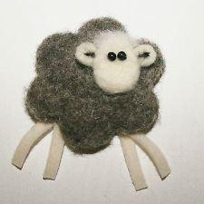 Herdwick Sheep Brooch ~ Handmade Needle Felted Sheep Brooch