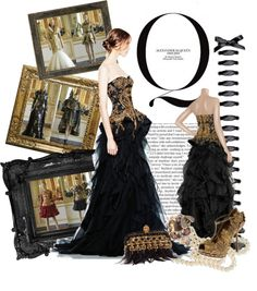 """""""McQueen Silk Organza Gown"""" by bduffy ❤ liked on Polyvore"""